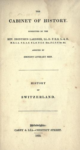 History of Switzerland by Dionysius Lardner