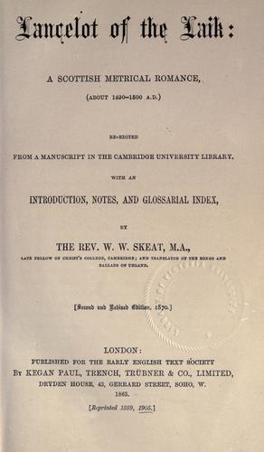 Lancelot of the Laik by Lancelot.