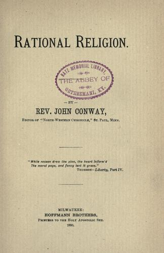 Rational religion by John Conway