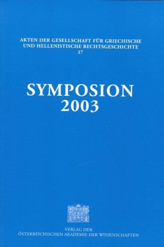 Symposion 2003 by Hans-albert Rupprecht