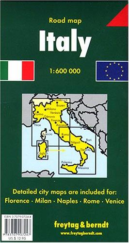 Italy Road Map by Freytag & Berndt