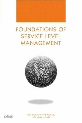 Foundations of Service Level Management by Rick Sturm, Wayne Morris