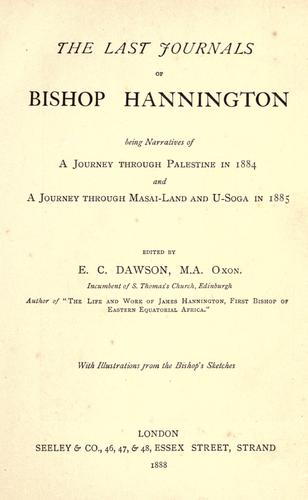 Great topic :) by Hannington, James, bp., 1847-1885.