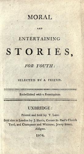 Moral and entertaining stories, for youth by
