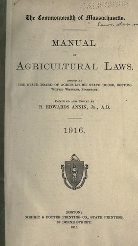 Laws, etc by Massachusetts