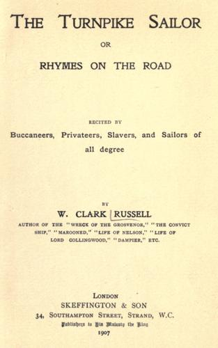 The turnpike sailor by William Clark Russell