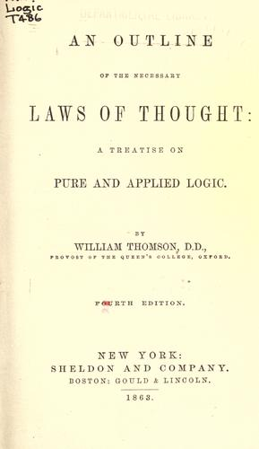 An outline of the necessary laws of thought by