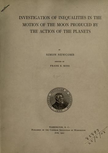 Investigation of inequalities in the motion of the moon produced by the action of the planets