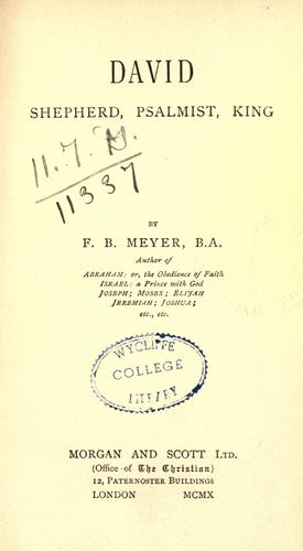 David by Meyer, F. B.