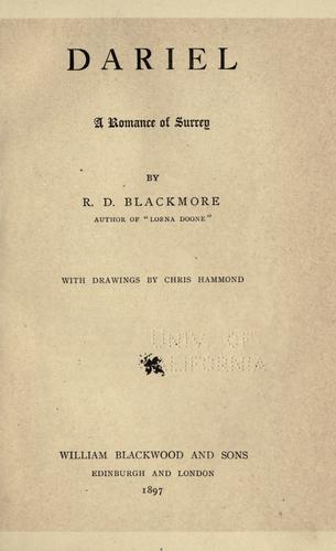 Dariel by R. D. Blackmore