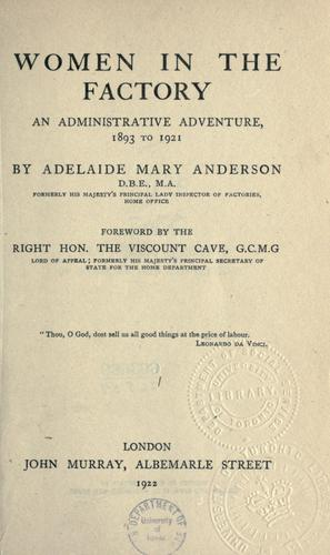 Women in the factory by Adelaide Mary Anderson