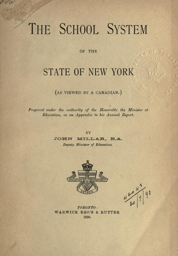 The school system of the State of New York (as viewed by a Canadian)