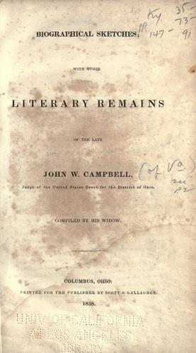 Biographical sketches by Campbell, John W.