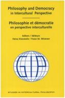 Philosophy and Democracy in Intercultural Perspective - Philosophie Et Democratie En Perspective Interculturelle by Heinz Kimmerle