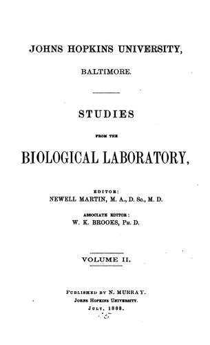 STUDIES FROM THE BIOLOGICAL LABORATORY by